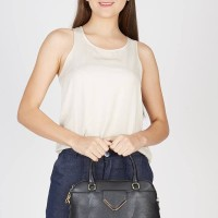 Tas Handbag Shoulder Wanita Les Catino 09 Black