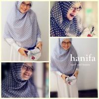 Jilbab Hijab Kerudung Khimar Segi Empat Motif Polka Chiffon Fine Ori