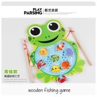 WOODEN FISHING GAME/ Mainan Pancingan Kayu katak/ kucing