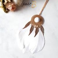 Jual [READY] Kalung Etnik Forever21 Dreamcatcher Bohemian Feather Hijab Murah