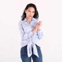 Batik Pria Tampan - Blouse Marishka Lavender Basket Weave