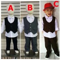 [MB] Baju Anak Bayi Laki Laki Kondangan Bayi Baju Pesta Bayi - Moreno