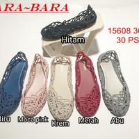 jelly shoes bara bara sepatu wanita flat shoes jaring import 15608