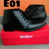Sepatu Boots Pantofel Kulit Sapi Bertali E01