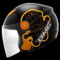 High Quality... Helm Bmc Milan Cartoon Doraemon Retro Black / Orange