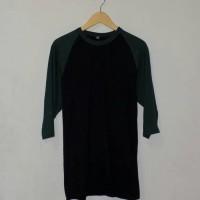 Raglan Black and Green Bottle - Kaos Distro Polos Bandung