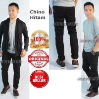 Celana Chino 100% Orginal Premium HITAM CELANA KANTOR SANTAI