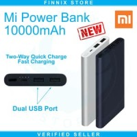 Xiaomi Mi Power Bank 10000mAh NEW Dual USB Port Fast Charging - Hitam