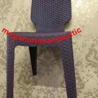 Kursi / Bangku Sender Plastik Motif Anyaman Rotan