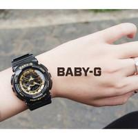 TERLARISS JAM TANGAN WANITA CASIO BABY-G BGA 110 BLACK LIST GOLD b62eb0f403