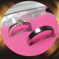 cincin kawin emas putih dan perak p816