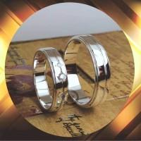 cincin kawin emas putih dan perak p5413