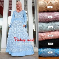 Baju Terusan Wanita Muslim Longdress Vintage Maxy