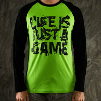 KAOS LENGAN PANJANG RAZER LIFE IS JUST A GAME - BAJU LONG SLEEVE MURAH