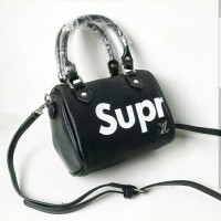 Tas wanita hand bag Louis Vuitton Supreme Mini Import