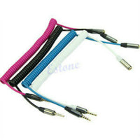 KABEL AUX SPIRAL MALE TO FEMALE HIGH QUALITY
