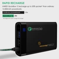 Jual POWERBANK UNEED 12000mAh FAST CHARGING USB QUICK CHARGER 3.0 MURAH Murah