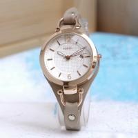jam tangan wanita murah FOSSIL DATE F-005 LEATHER