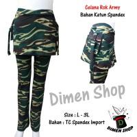 Celana Rok Senam Kantong Army Jumbo | Olahraga | Gym | Dimen Shop