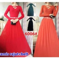 NCR 6006 Maxi Grosir@135 Ecer@187 Gamis Long dress GRATIS Belt Rajut I