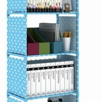 New! Rak Portable Serbaguna 4 Susun Buku Dapur Cabinet Cloth Rack Baju