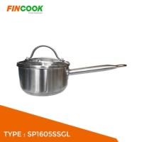 Panci Induksi Sauce Pan Stainless Steel 16cm Fincook SP1605SSGL