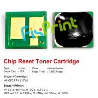 Chip Reset Cartridge Toner HP 17A CF217A, Printer Laserjet M102a M130a