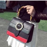 B0118 black Tas Pesta Elegan Import