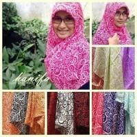 Jilbab Hijab Kerudung Khimar Segi Empat Motif Parang Chiffon Fine Ori