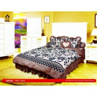 All New My Love - Bed Cover Set Rumbai King 180x200cm motif Sekar