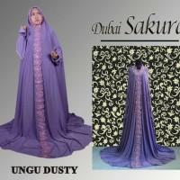 Mukena Online Dubai Sakura Ungu Dusty Murah Jakarta, Bukittinggi