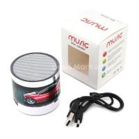 Speaker Bluetooth Super Bass lampu disco Portable Gambar Mobil