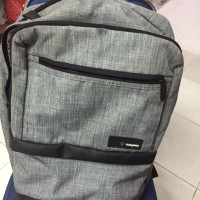TAS BODYPACK SILVER 95% LIKE NEW TAS BODY PACK TAS LAPTOP TAS RANSEL