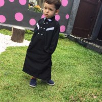 promo murah baju muslim koko gamis anak arab pria laki syar i hitam 1