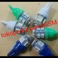 (Sale!!) Lampu Senja Led T10 10Mata (Cahaya Putih / Biru /Merah Dan