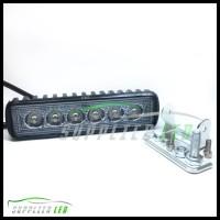 (Turun Harga!!) Lampu Tembak Sorot Motor Led Bar Cree 6 Titik 6 Mata