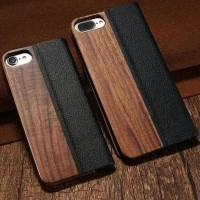 Casing Bambu Iphone 6/7/8/X Case Samsung S7 Edge Flip Cover KISSCASE