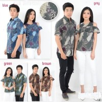 Jual Dress Couple Batik Panca Sabrina / baju kapel blouse / kemeja etnik Murah