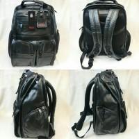 TAS TUMI BLACK LEATHER tipe backpack MIRROR QUALITY