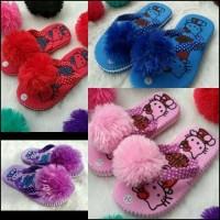 Sandal Pompom Hellokity Anak (HK SABLON)