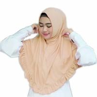 Kerudung Jilbab Instan Najwa Rempel Bahan Kaos Cotton TC Murah