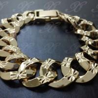Gelang rantai lapis emas Perhiasan imitasi Gold 18k Yaxiya Jewelry 425