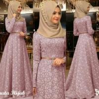 Jual AF Maxi dress casual /Gamis Pesta /Baju Muslim Terbaru Murah Renata Murah