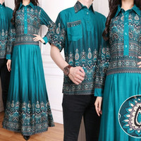 baju couple muslim elegan model batik asli