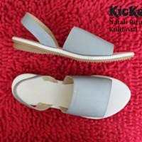 sendal / sepatu casual wanita Kickers Natali biru Kulit asli