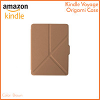 Kindle Voyage Origami Case Brown Coklat - Magnetic PU Leather Cover