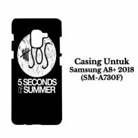 Casing SAMSUNG A8 PLUS 2018 5 Second Of Summer Log Hardcase Custom