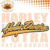 Jaket Boomber Kulit Harley Davidson Patch Atribut Bordir Series 10