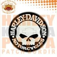 Jaket Parka Kulit Jaket Harley Davidson Patch Atribut Bordir Series 16