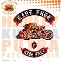Jaket Parka Kulit Jaket Harley Davidson Patch Atribut Bordir Series 27